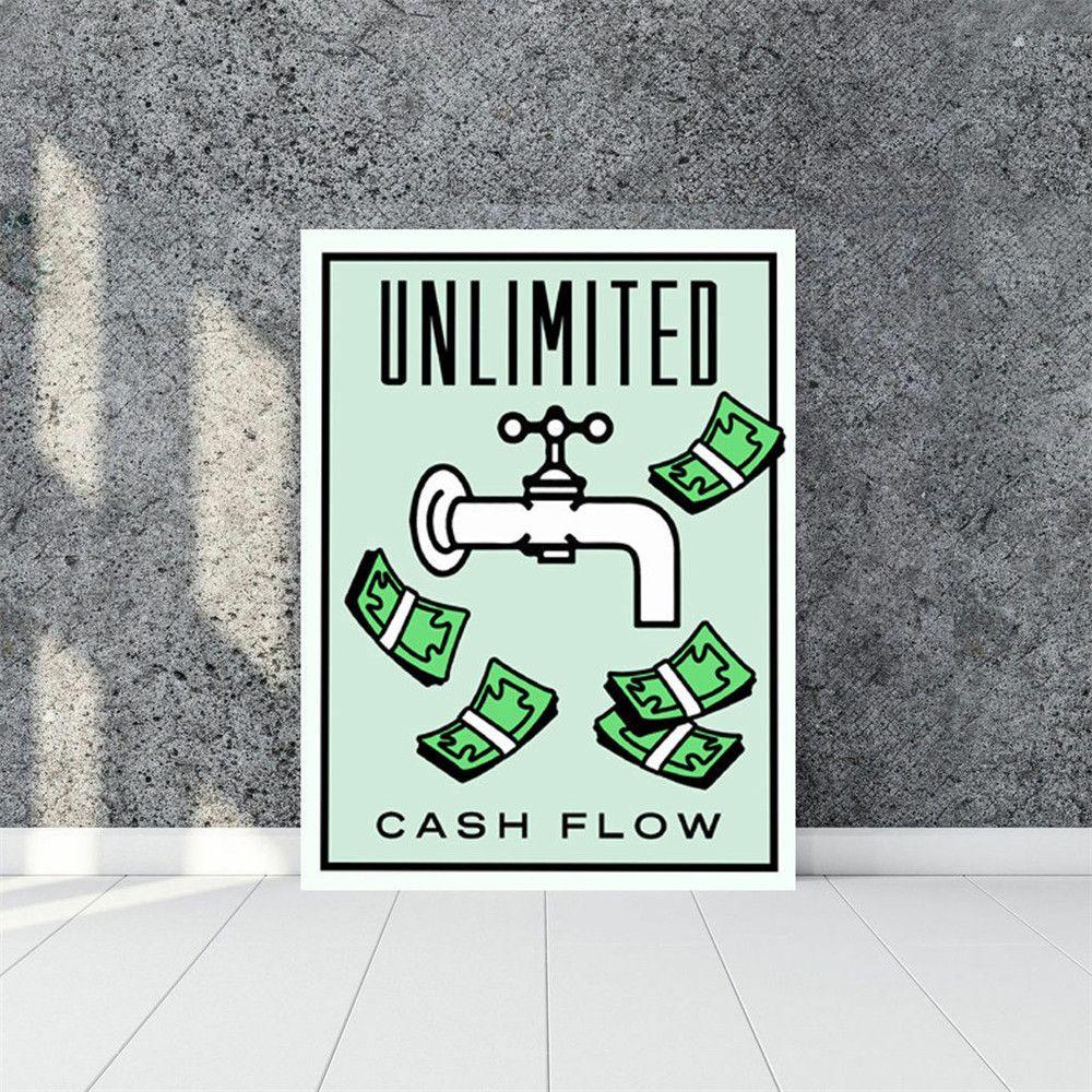 Alec Monopoly Cash Flow, Leinwand Stück Wohnkultur HD Printed Moderne Kunst, Malerei auf Leinwand (Unframed / Framed)