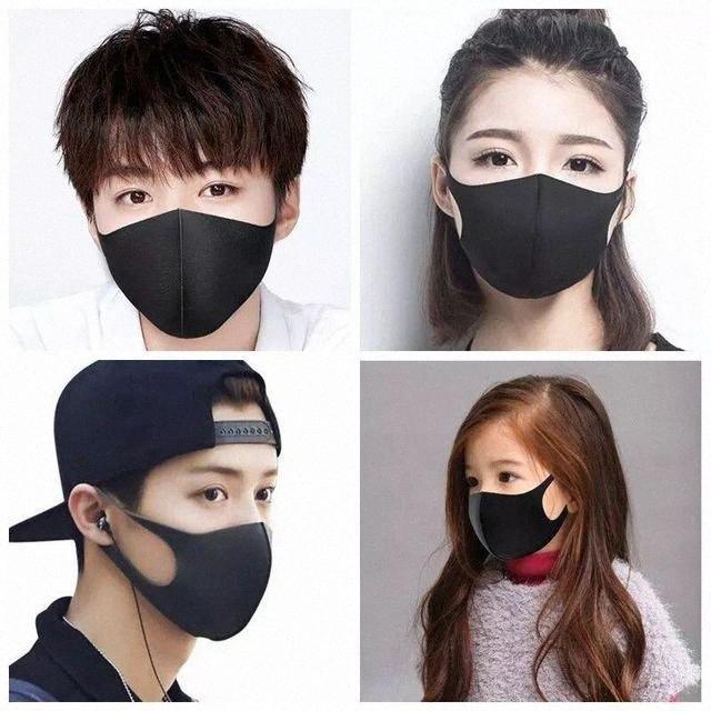 Женщины Мужчины против пыли маска Дети Дети РМ2,5 Защитная маска Ice Шелковый хлопок Антибактериальное моющийся пыле HH9-2996 uHoL #