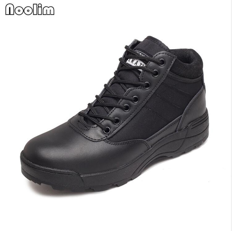 Nouvelles bottes en cuir militaire américaines pour hommes Combat Bot Infanterie Bottes tactiques de la cheville Armée Bots Armée Chaussures 200916
