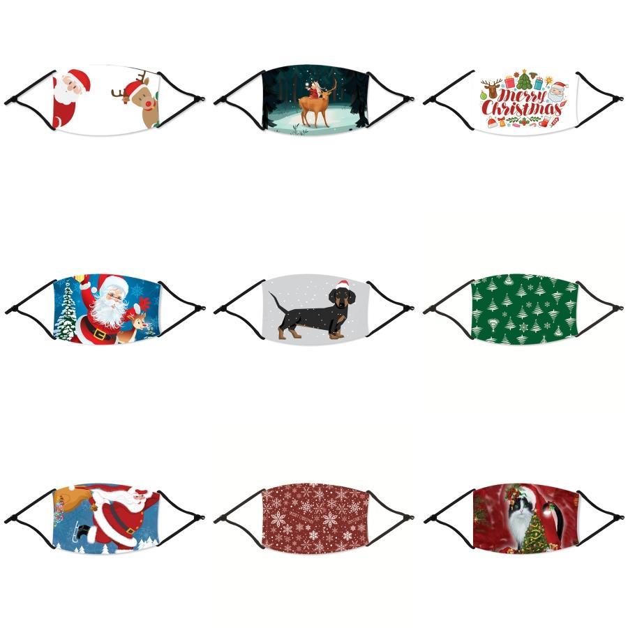 Kinder Karikatur druckte Weihnachten Maske Baumwolltuch staubdichte waschbare Weihnachten Maske für Kinder mit Atem Ventil kann in PM2.5 Filte # 26333 Setzen
