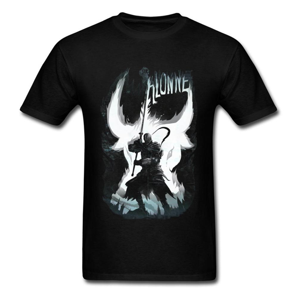 T-shirt dos homens Hunter Dark Souls 3 t-shirt 2019 Ganhos preto camisetas Mens Jogo Tee Praise The Sun Tops Soldado militar Estilo Clothes