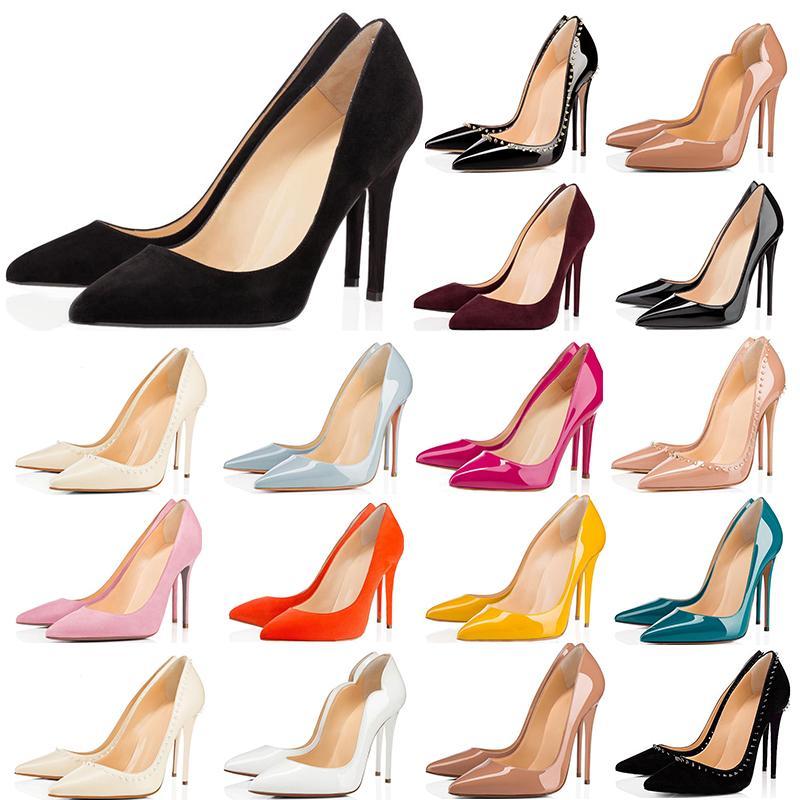 2020 scarpe di alta qualità rosso talloni inferiori donne 8cm 10 cm 12cm bianco nero rosa giallo scarpe da ginnastica blu casuale des chaussures taglia 36-42