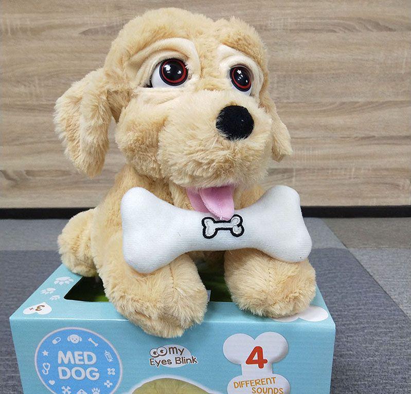 Sevimli Elektronik Evcil Sevimli Robot Köpek Peluş Oyuncak İnteraktif Erken Bebek Eğitici Köpek Köpek Çocuklar Oyuncak Noel Doğum Günü Hediyeleri