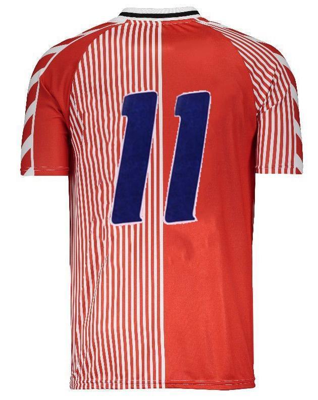 1986 덴마크 레트로 홈 1992 유로 덴마크어 집에 최종 고전 로더 Povlsen 저지 (92) 덴마크 레트로 남자 축구 유니폼 M. 라우드 럽 10RETRO (19)