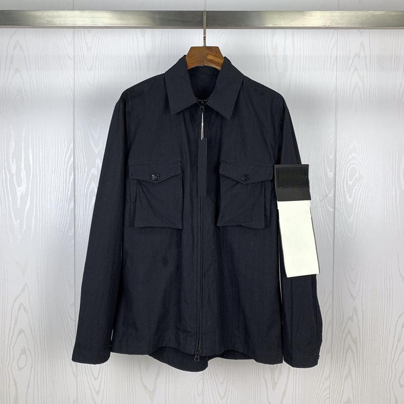 Nuovo arrivo del rivestimento solido del Mens di colore Stylist manica lunga Nuovo Trench Mens Stylist Pocket decorazioni sottile del cappotto del rivestimento di formato M-2