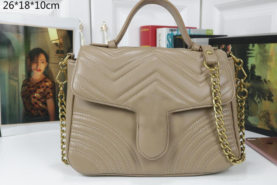 Qualität Hot Taschen Mode Frauen Handtaschen Top Lederkette 26 * 18 * 10 cm Crossbody Geldbörse Tasche Messenger Tasche Brieftaschen Schulter verkaufen KQDPV