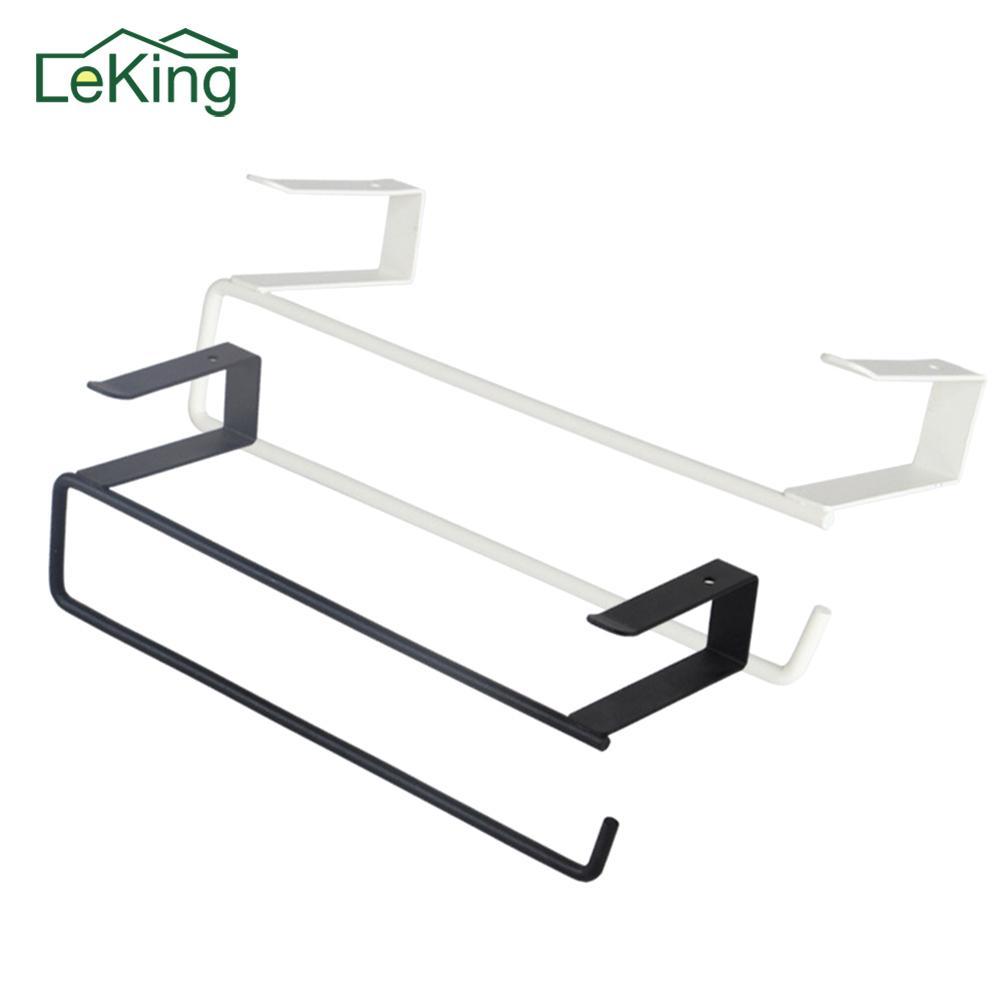 New Bügeleisen Küche Papierrollenhalter hängend Badezimmer Toilettenpapierrollenhalter Handtuchhalter Küchenschranktür Haken-Speicher-Organisator