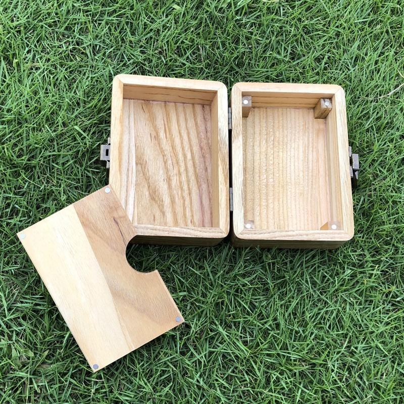 Natural Cool Bois Portable Anté roulant Stash cas Boîte de rangement sec Herb tabac La cigarette Conteneur de haute qualité fait main DHL