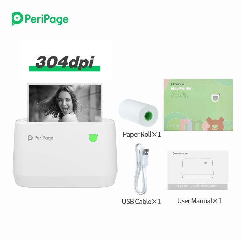 휴대용 Peripage A9 80mm의 감열 식 영수증 프린터 휴대용 라벨 참고 프린터 USB BT 블루투스 연결 무선