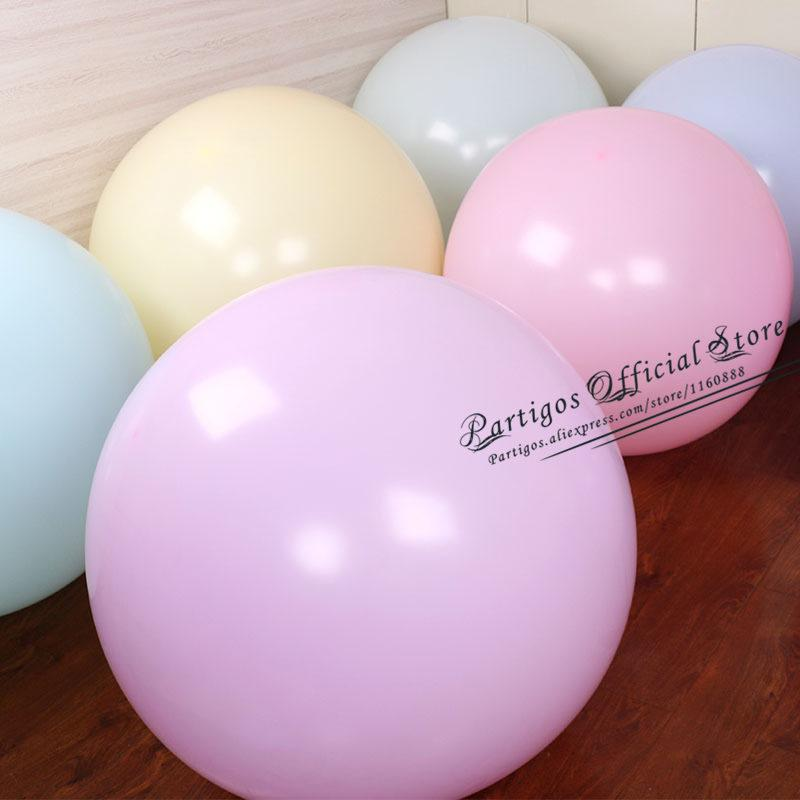 10pcs 36inch Round Macaron balloons latex helium global birthday party decor kids huge size balloon arch balloongarland supplies