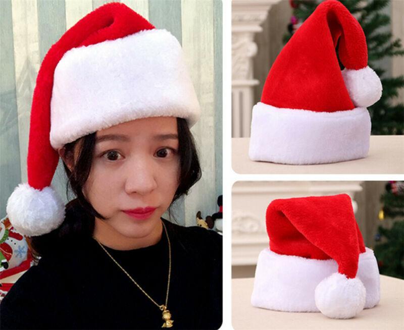 2020 Noel Baba Cap Unisex Noel Şapka Kid Noel Kafa Kardan Adam Peluş Kostüm Şapka