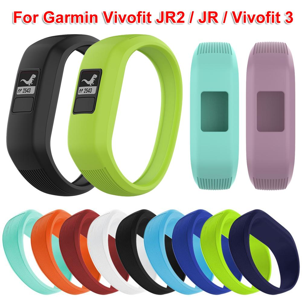Hot Style Soft Silicone Sports Replacement Wrist Straps Band For Garmin Vivofit JR 2/Vivofit 3 Watch Clasp watch band bracelet