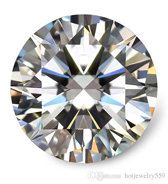 0.1Ct ~ 8.0Ct (3.0MM ~ 13,0 mm) D / F Colore VVS rotonda taglio brillante Lab Diamante certificato Moissanite con un certificato di test positivo sciolto diamante