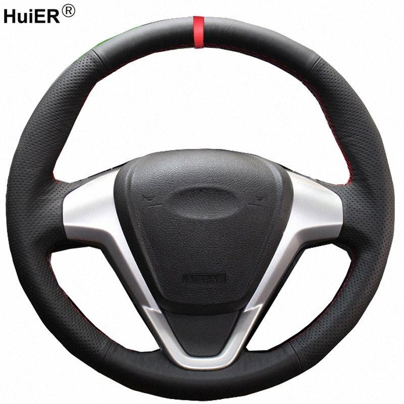 El Dikiş Araç Direksiyon Kapak For Fiesta 2008 2012 2013 Ecosport Direksiyon üzerinde 2013 2015 2016 2017 Örgü Tekerlek Kalın Direksiyon l5vD #