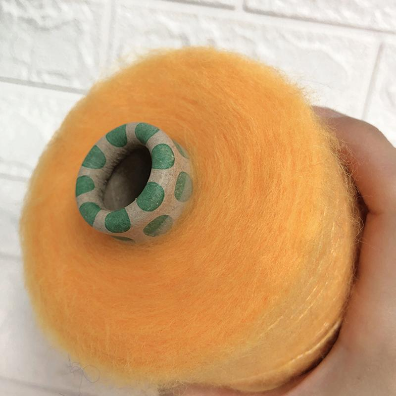 New 500g schönen goldenen organischen gelb feinen Plüsch Mohair Wolle Garn für das Stricken häkeln stricken Garn dünnen Nähfaden X5200
