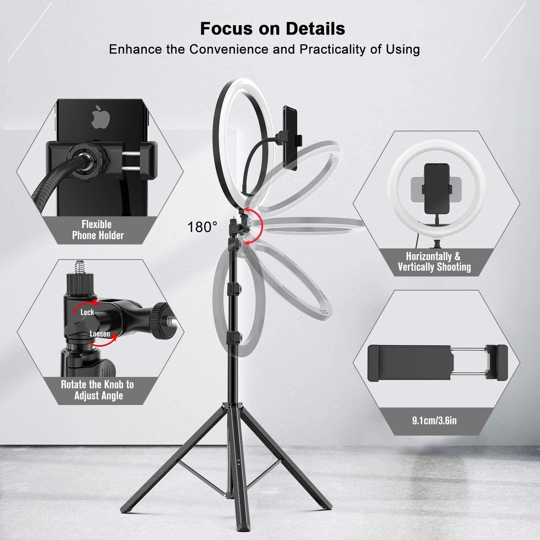Selfie Dimmbare Ring-Licht-Kamera-Telefon Profissional Fotografie Beleuchtung mit Stativ für Make Up Foto Ring Lamp YouTube