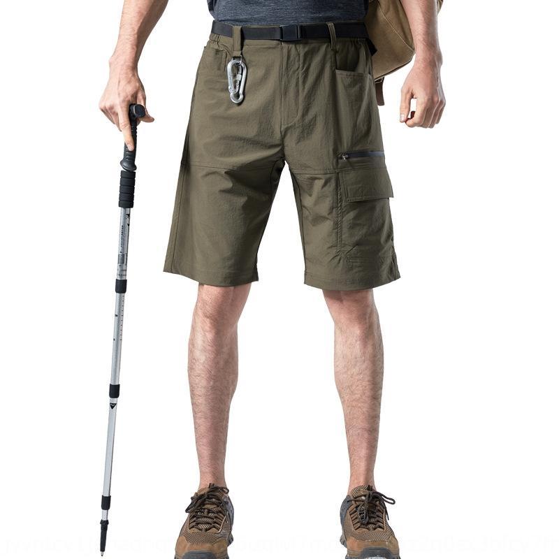 Amerikanischer Größensommerart- Männer im Freien Berg- und Multitasche schnell trocknende Shorts strecken Größe Shorts