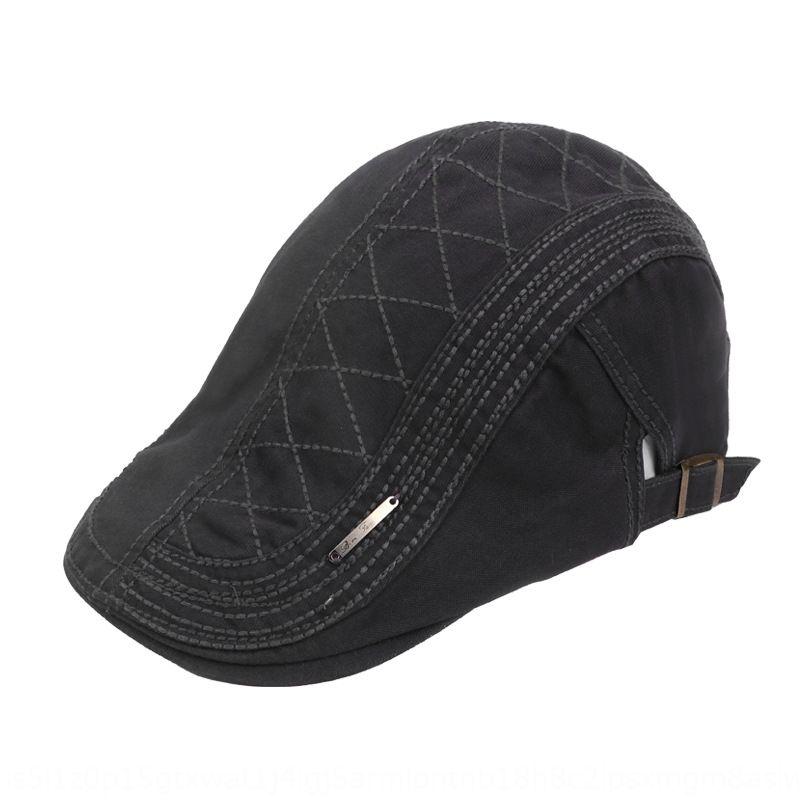 sTaUI erkek bahar ve yaz Kore tarzı moda ileri şapka demir etiket beyzbol Sivri kap şapkası bere bere güneş güneşlik doruğa