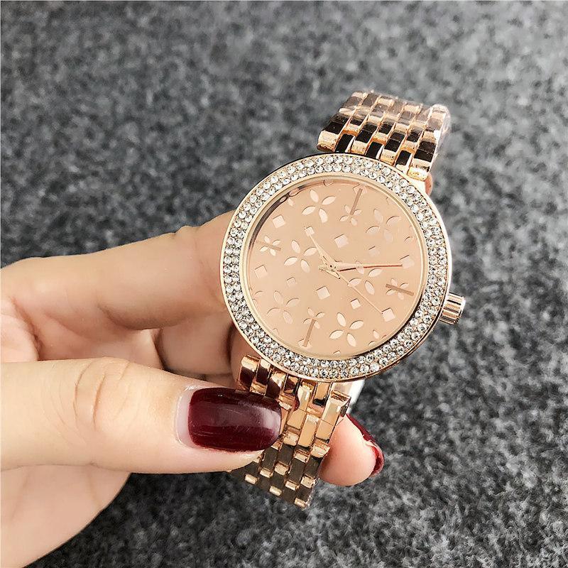 Ультра тонкий алмазный смотреть женщин роскоши дизайнер леди часы дамы платье женщина складной пряжки розового золота наручные часы часы подарок для девушки