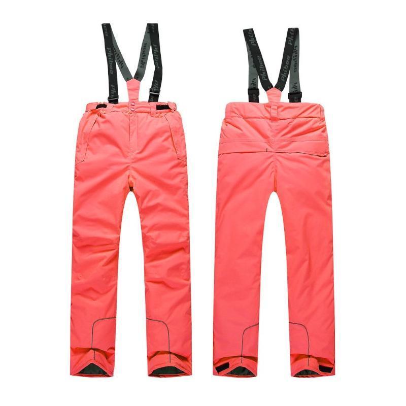 Лыжные брюки дети дети зима теплые открытый водонепроницаемый лыжные нагрудники снежные брюки
