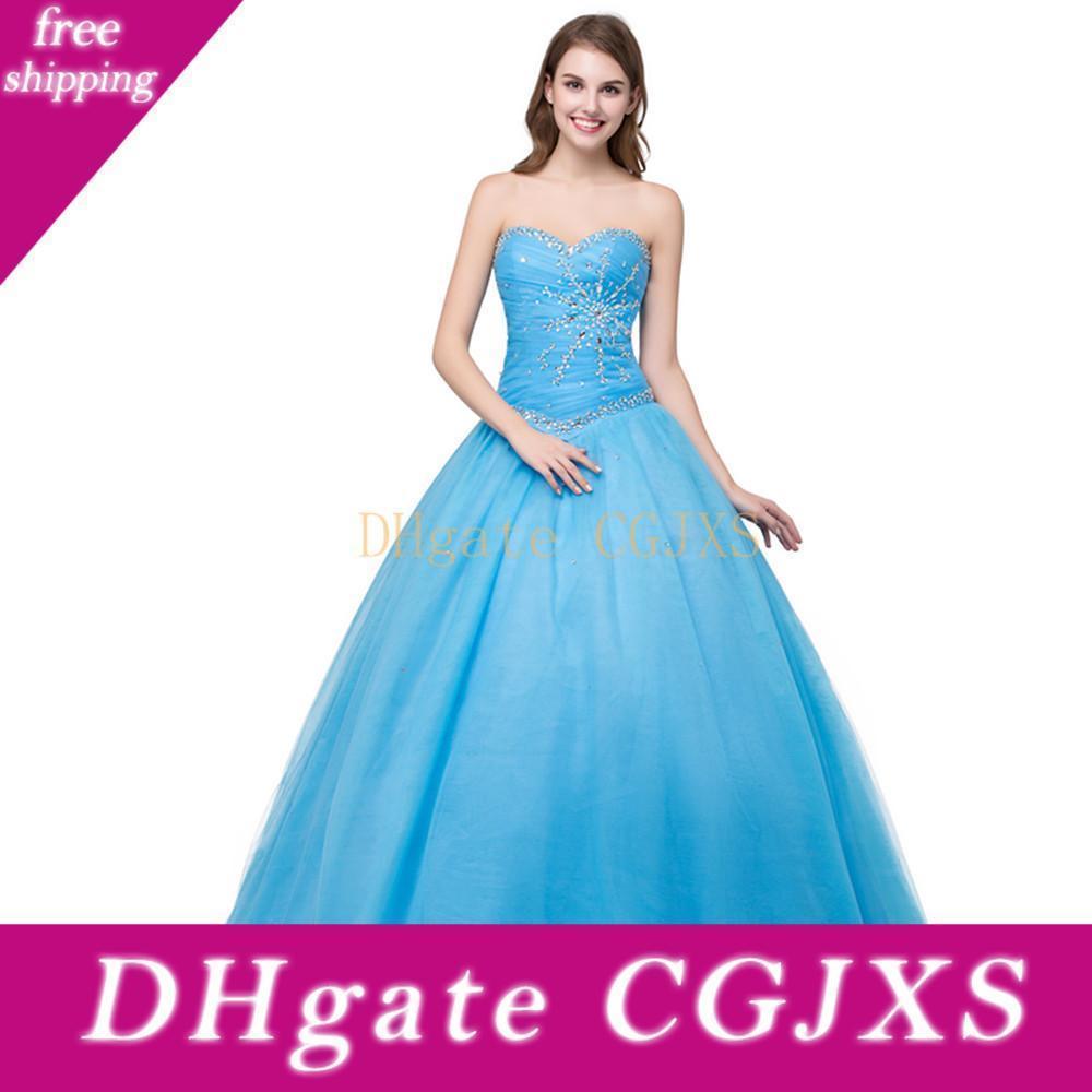 Vestido de bola del amor vestido de fiesta moldeado cristalino barato vestidos de baile trasera ata para arriba más el tamaño de Prom Dressess
