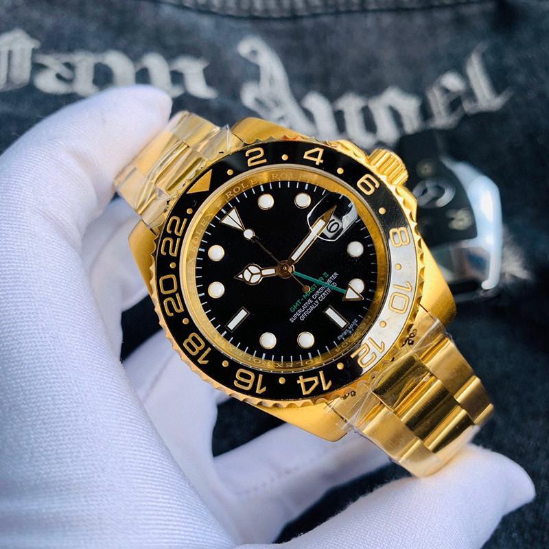 hombre de la calidad del reloj orologio di Lusso 316 fina de acero de 40 mm movimiento automático relojes Montre de lujo relojes de los hombres A8 rolex