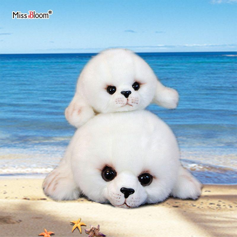 Dropshipping Soft Cute Seals Plush Toy Sea World Animal Sea Lion Plush Stuffed Doll Big Eyes Baby Birthday Gift for Kids Girls LJ200902