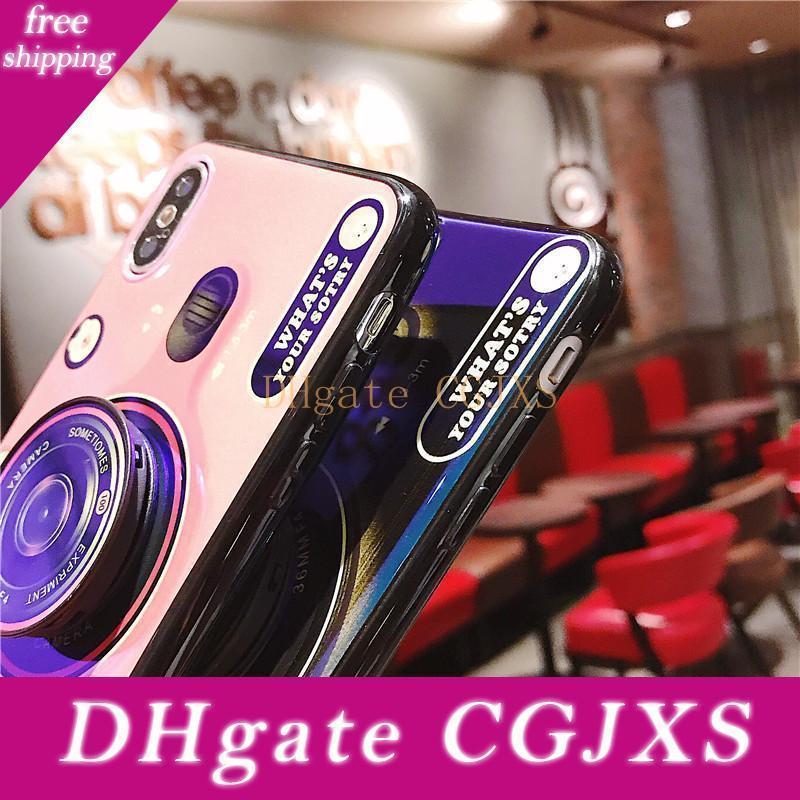 Heißer Verkaufs-phonecase 3D-Kamera Blue Ray-Telefon-Abdeckung für Iphone Xr Xs Max 6 6s 7 8 Fälle mit Multifunktions-Ring