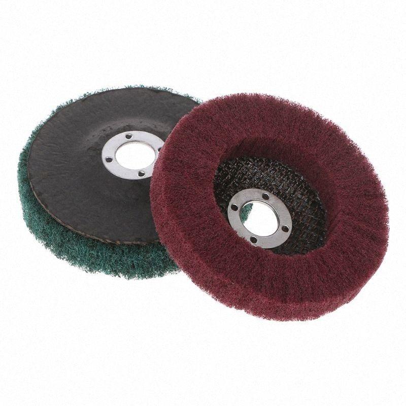 Herramienta rotativa cepillo abrasivo nylon Maquinaria Metalurgia fibra Muela Pulido Pulido y el disco de bq98 #