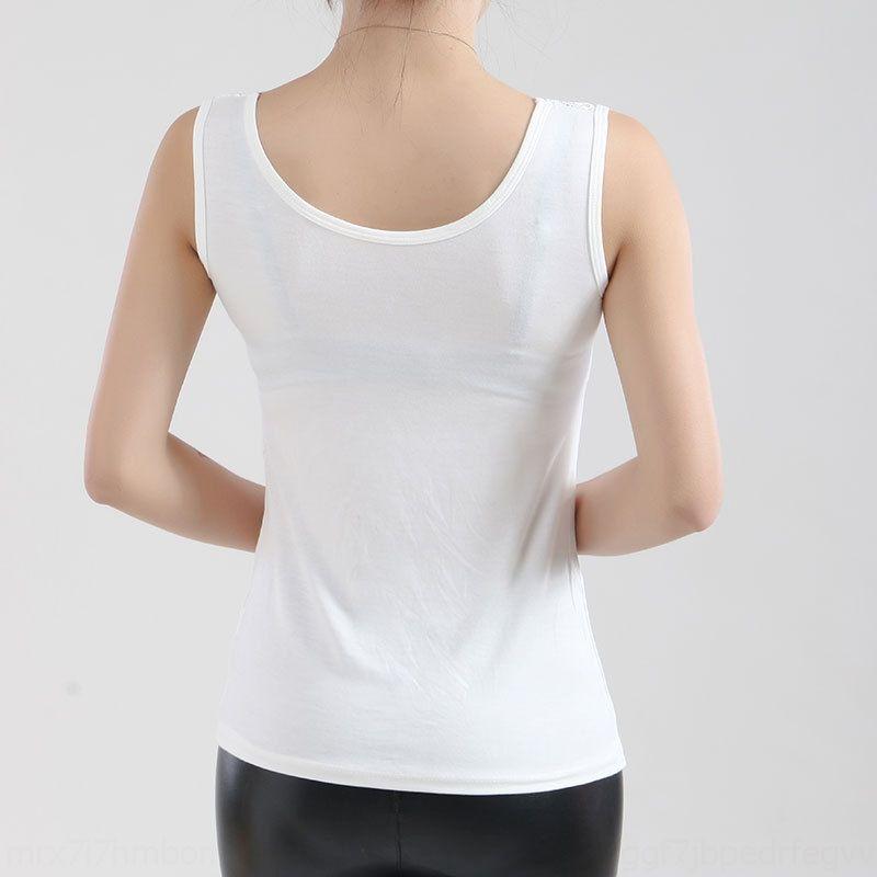 Nue4N Neue anti-Exposition große modale Basis Hemdspitze dünnes breites Schulter fit Frauen Frauen-Spitze-Weste Weste Weste