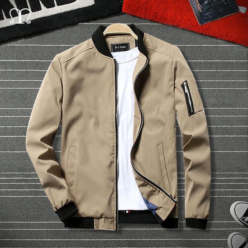 Outwear Amygreen Khaki Primavera Outono Jaqueta Masculino CX200820 Jacket Men Zipper Plus Size Marca Casual Sólidos Jaquetas Homens de Moda de Male