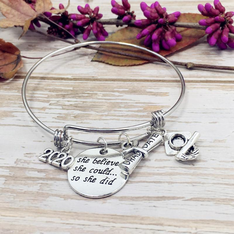 Regalo di laurea collana insieme del braccialetto dei monili dell'acciaio inossidabile Accessori Catena D88