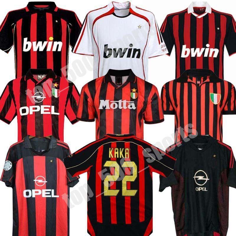 90 91 레트로 셔츠 홈 96 97 Gullit 축구 유니폼 01 02 03 Maldini Van Basten 축구 Ronaldo Kaka Inzaghi 06 07 2009