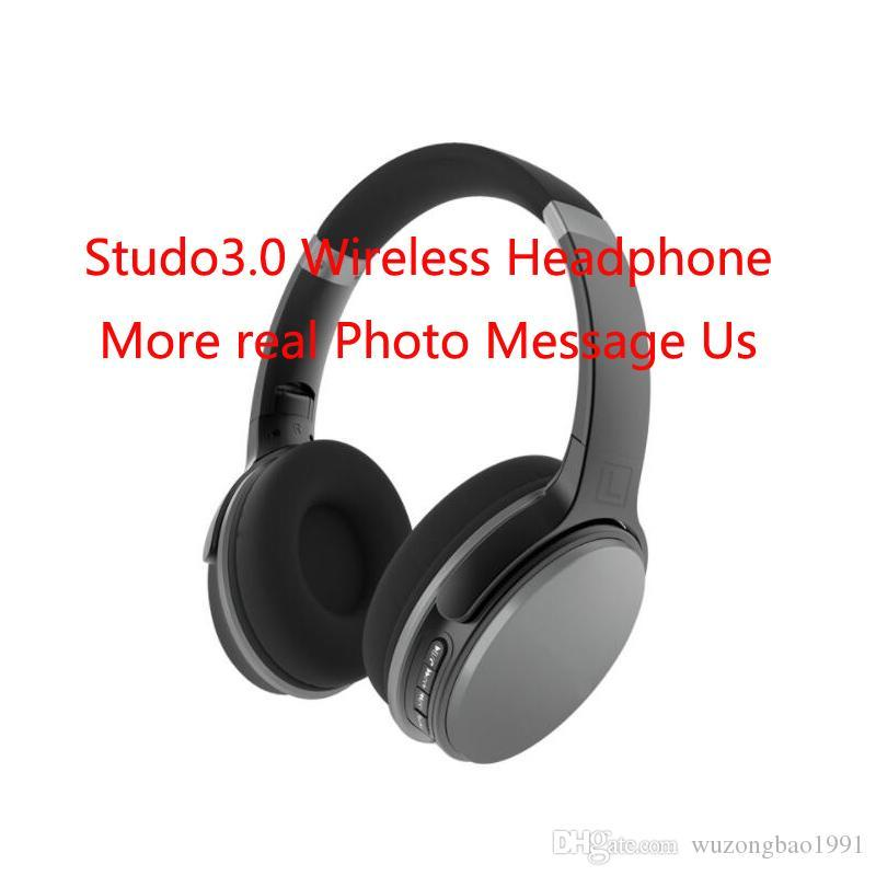 A+++ Stud3.0 Wireless Headphone Bluetooth Stereo Headset Support Mic TF Card For Studo iphone Samsung Wholesale DHL Free Drop Shipping