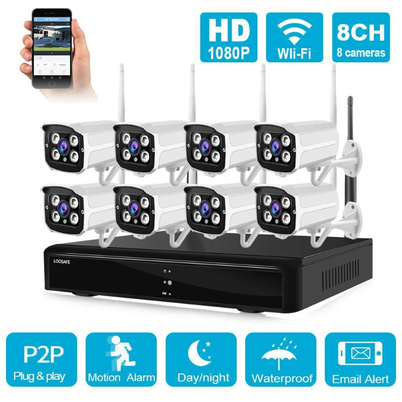 8CH 1080P Wifi IP Camera Outdoor Waterproof Wireless HDMI IR Home Office NVR CCTV Security Surveillance System Kit