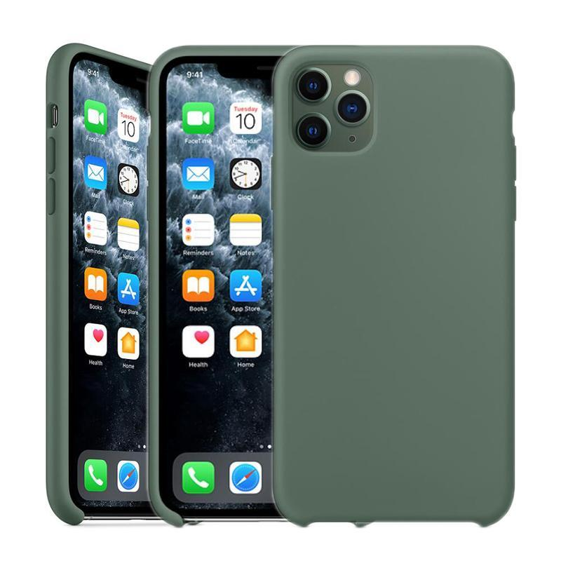 Cgjxs Oficial OEM Silicone Case para Iphone 11 / Pro / Pro Max X Xr Xs Xs Max 8 7 Plus (19 cores)