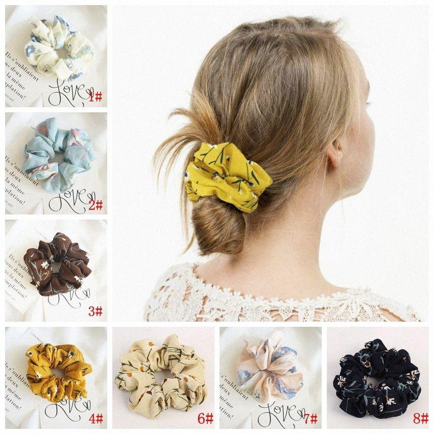 Mode-Mädchen Frühlings-Sommer-Chiffon- Dickdarm- Kreis Pferdeschwanz-Halter-weicher Stretchy Haar-elastische Seil-Zusätze für Frauen Hairba iEbm #