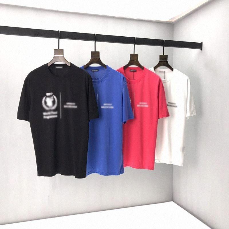 Principios de la primavera 2020 Nuevo bloque del color del logotipo de la letra camiseta de manga corta del filamento doble fina tela de algodón Negro y negro I1Q la chaqueta de Jean con F # JnS5