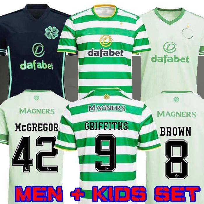 2021 Celtic Futbol Formaları Edouard 2020 2021 Kahverengi Forrest Christie Futbol Gömlek Griffiths Celtic FC McGregor Mens Jersey