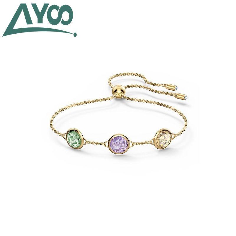 Ayoó haute qualité SWA 2020 nouveaux simples et des cristaux colorés doux femmes bracelet bracelet réglable femmes perles