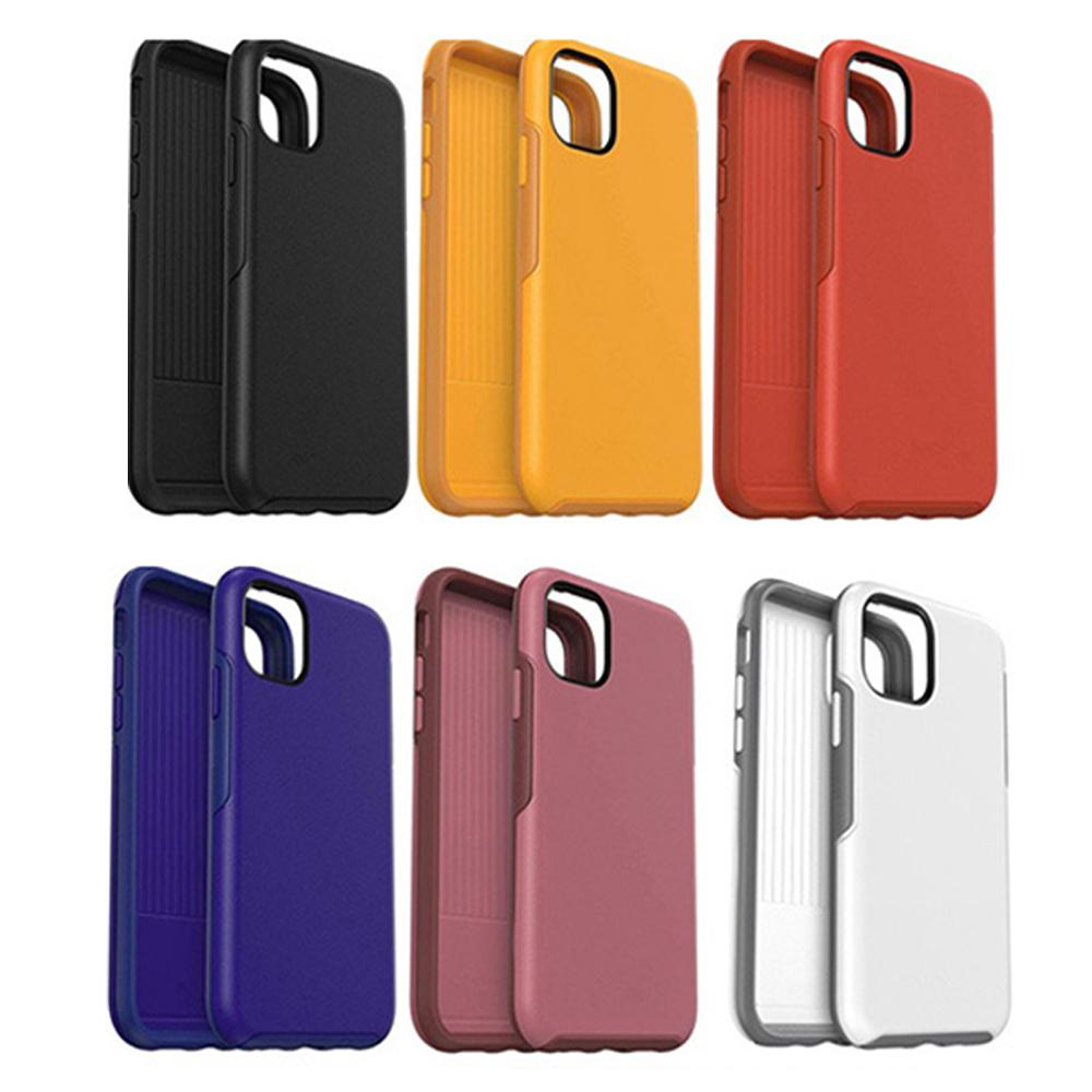 2 In 1 Shockproof Phone Case For iPhone 11 Colorful Multi Colors Full Cover TPU+PC Case