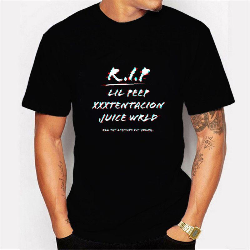 Nuovo Hip Hop T-shirt da Uomo RIP Lil Peep Xxxtentacion jiuce wrld Stampa T shirt Uomo scarsità casuali vestiti manica Unsex T Shirt