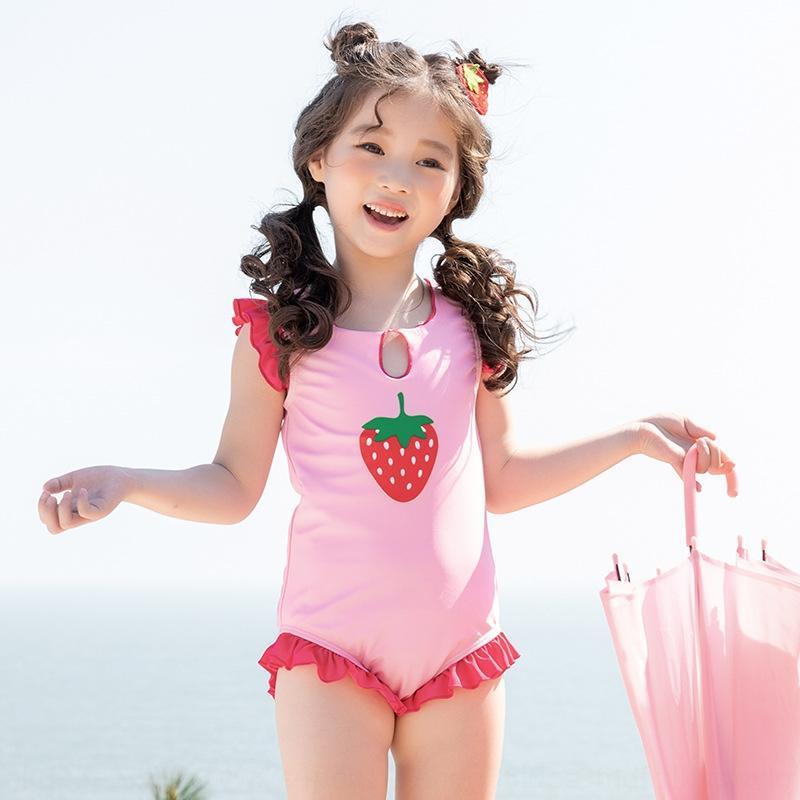 2020 Qiqi девушки один цельный Qiya же милый ребенок INS купальник купальник jardd