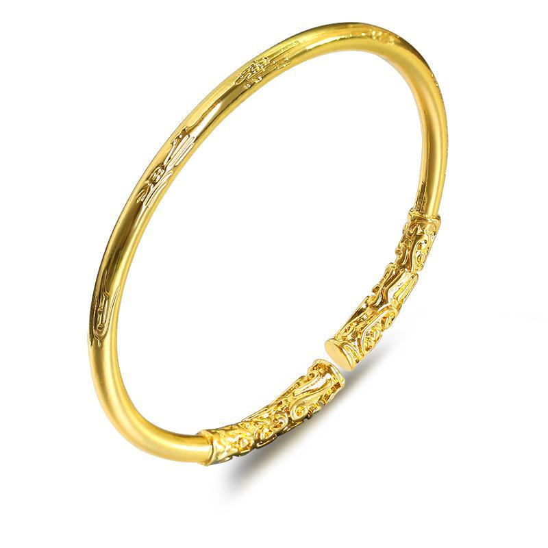 Nuovo Creative Design rilievo ad anello d'oro Rod dei braccialetti di fascino dell'oro di modo lega il braccialetto dei braccialetti per le donne Men Jewelry Gifts