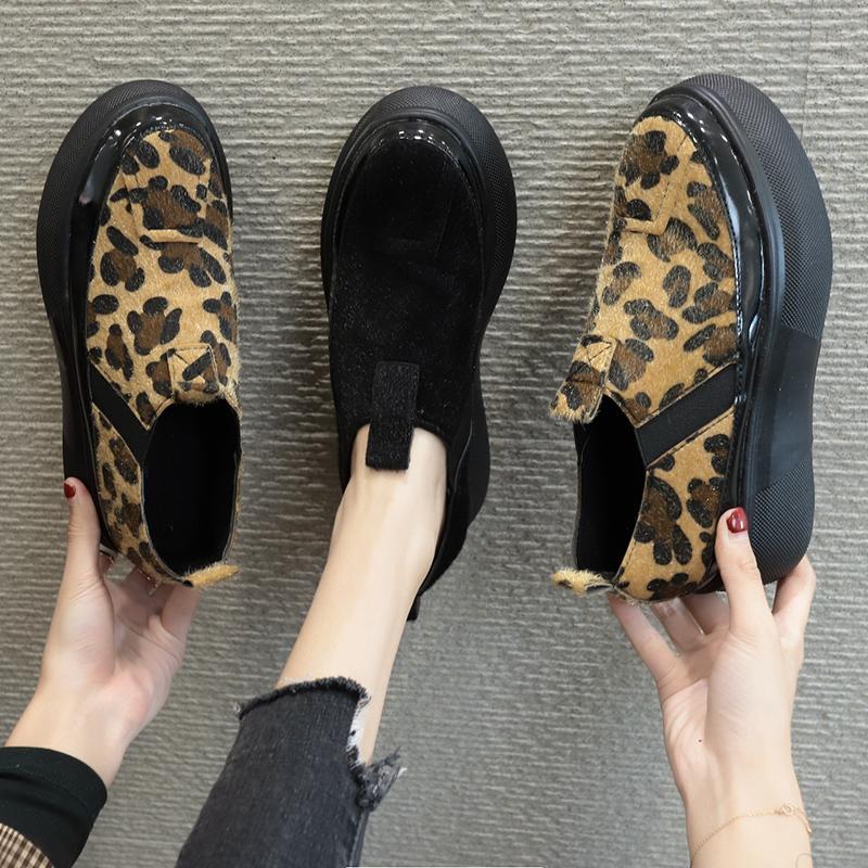 COOTELILI Suede Женщины Сапоги Зимние теплые Короткие Ботильоны Flats обувь женщина Толстый каблук водонепроницаемый сапоги круглый Toe скольжения на