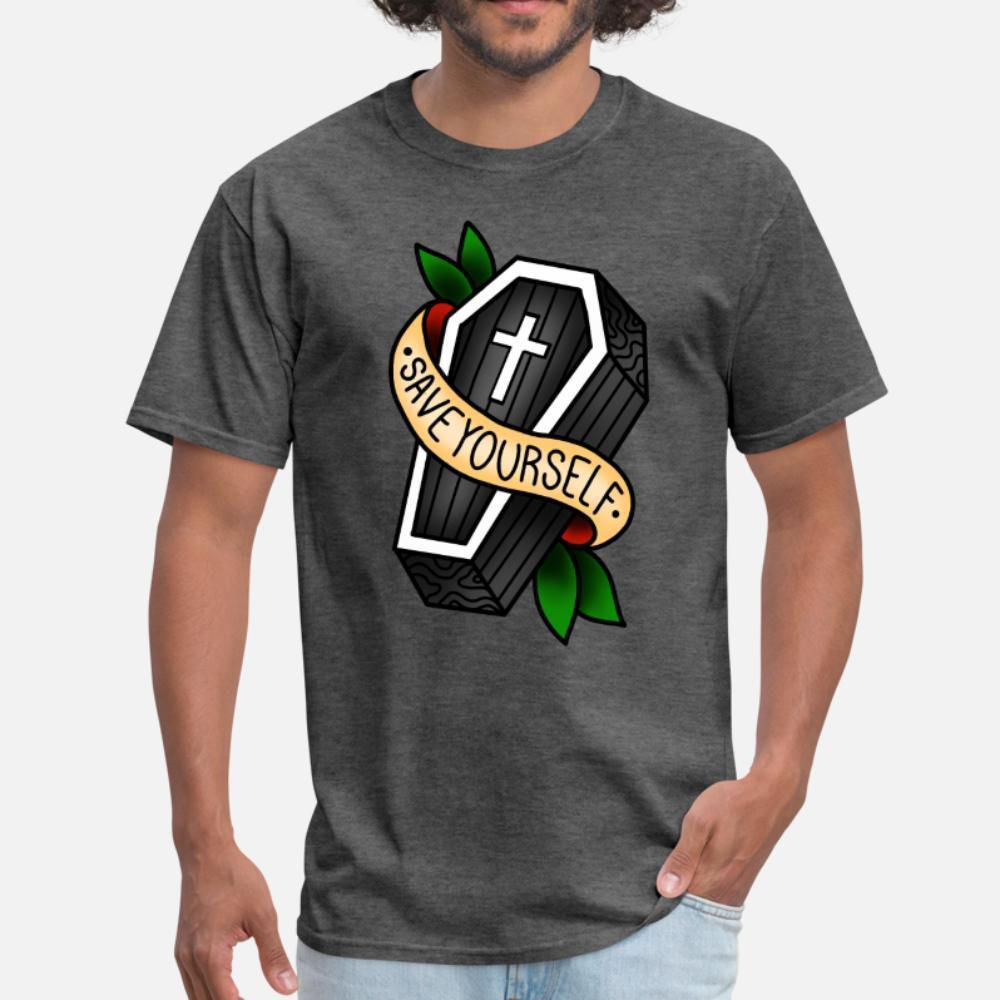 Ahórrese camiseta de los hombres camiseta personalizada S-3XL de la vendimia Gráfico básico del estilo del verano adelgazan la camisa