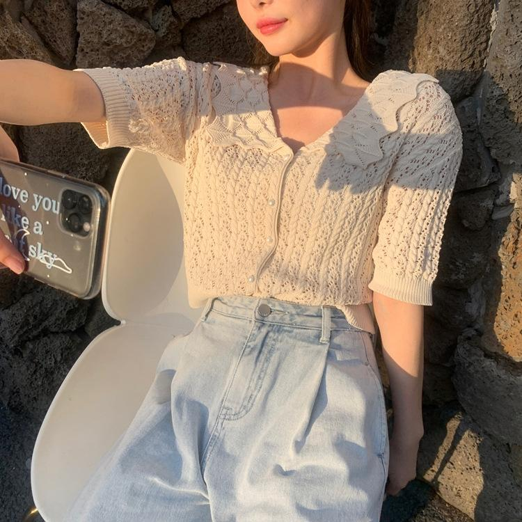 19q4b muñeca estilo 2020 Verano de Internet géneros de punto dulce suave muñeca jersey linda chica es linda celebridad géneros de punto de cuello