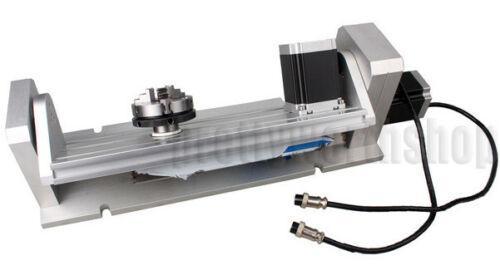 CNC Engraving Machine Rotary Table 65mm 3 Jaw Chuck Rotational A/B 4th&5th Axis