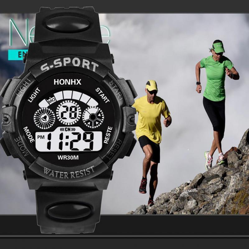 Digital LED eletrônico relógio Homem de Relógios Men Sports Moda Waterproof Luminous analógico relógio de pulso esporte