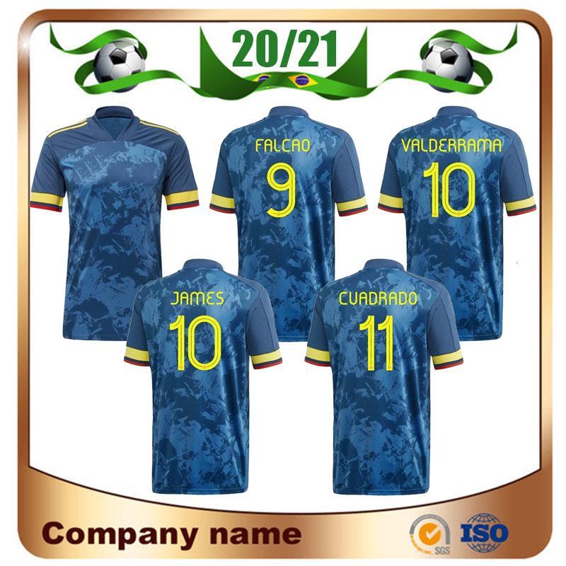 20/21 Colombia Player version Soccer Jersey 2020 Home Falcao James National Football Team Shirt CUADRADO VALDERRAMA Away football uniform
